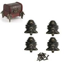 4Pcs/lot Retro Brass Box Legs Feet Corner Protector Zinc Alloy Horse Head Shape