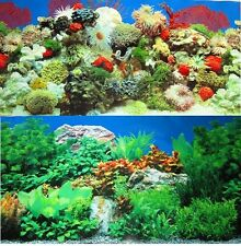 """Aquarium Background Decoration Coral Reef 2 sided Pictures 84""""x 23.25"""""""