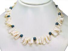 ELEGANTE COLLAR DESDE BIWA - Perlas y perlas de Agua Dulce l-45 cm