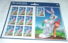 Bugs Bunny, Self-adhesive pane of 10, 32¢ stamps