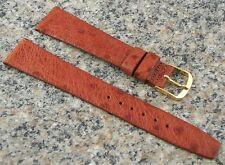 18mm NOS Stylecraft GENUINE EMU Watch Band TAN Strap Made in CANADA #252