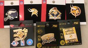 Set of 7 Minnesota Vikings Logo Collector Pins BLOWOUT PRICE