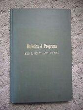1909-10 Detroit First Presbyterian Church Bulletins and Programs