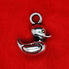 3 x Tibetan Silver 3D Rubber Duck Charm Pendant Beading Jewellery Making