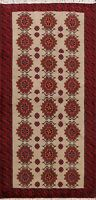 Geometric Hand-knotted Balouch All-Over Area Rug Wool Oriental Tribal 3x6 Carpet