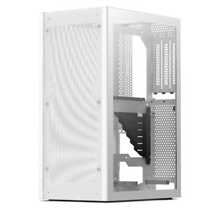 White SSUPD Meshlicious Mini ITX Case - TG & Mesh Panels - PCI-E 3.0 Riser Cable