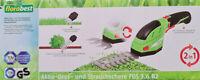 FLORABEST® 2in1 Akku Grasschere Strauchschere FGS 3.6 B2 Gartenschere Astschere