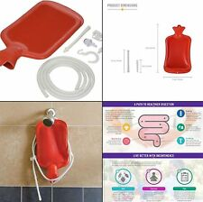 Medical Enema Kit Personal Douche Bag Reusable Water Bottle Irrigation Detox Set