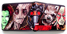 Guardians Of The Galaxy wallet credit card slots Cash sections id window coins