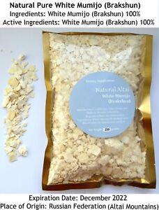 Genuine Pure White Shilajit 0.55 Lb (250gms) in Bag, Stone Oil, Brakshun, Mumijo