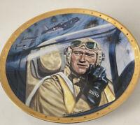 "John Wayne ""Symbol Of Marine Air Power"" #HA7166 Franklin Mint Plate 8"" Porcelain"