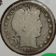 1904-S Barber Half Dollar, Discounted Better Date Coin 0906-24