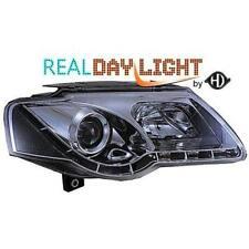 Coppia fari fanali anteriori TUNING VW PASSAT 3C 05- cromati con Dayline DRL