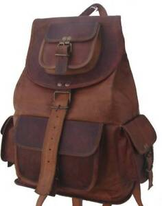 New Pure Rustic Vintage Soft Leather Travel Casual Ladies Backpack Rucksack Bag