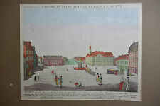 Original altkol. Guckkastenblatt Dresden Neustädter Markt Goldener Reiter; 1780