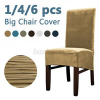 4/6PCS XL Stretch Velvet Chair Cover Dining Seat Slipcover for Banquet