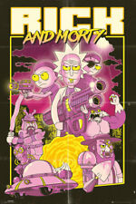 RICK AND MORTY ACTION MOVIE 91.5 X 61 CM MAXI  POSTER NEW OFFICIAL MERCH