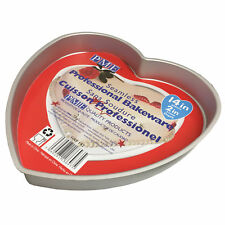 "PME Heart Love Valentines Mould Cake Cooking Baking Tin Pan Tray 14 x 2 "" Inch"