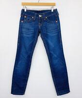 True Religion Womens Julie Skinny Jeans Dark Wash Size 26
