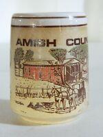 Vintage Collectible Amish Country Souvenir Coffee Tea Mug Cup Horse Buggy