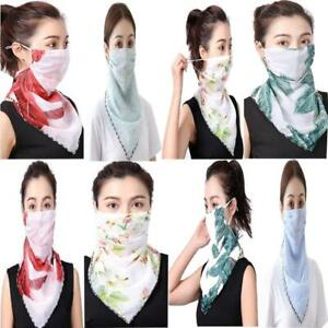 Ear Hanging Bandana Face Cover Scarf Triangle Printed Neck Cover Scarf
