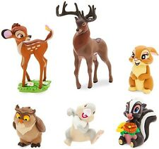 BAMBI Figure Set Walt DISNEY PVC TOY Cake Topper GREAT PRINCE Miss Bunny THUMPER