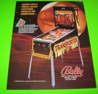 TRANSPORTER The Rescue Pinball Flyer Bally 1989 Original NOS Space Age Artwork