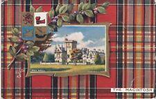 MacIntosh Tartan Border, Moy Hall, MOY, Inverness-shire - Tuck Oilette