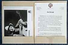 DON EDWARDS - PRESS KIT - CUSTOM WB FOLDER - B&W PUBLICITY PHOTO, 3 PAGE BIO