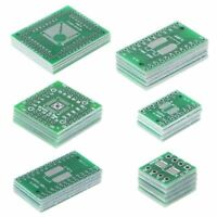 30x PCB Board Kit SMD To DIP Adapter Converter FQFP32-100 QFN48 SOP8 28 24 16