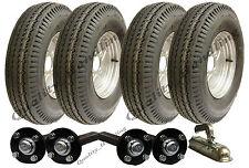 Haute vitesse double essieu remorque Kit 5.00-10 route légal roues moyeu &