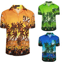 Mens Hawaiian Shirts Summer Holiday Casual Printed Beach Stag Hawaii Size M-3XL