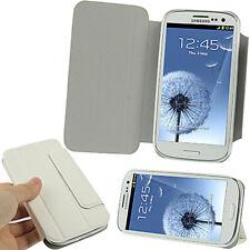 Móvil Funda Tapa Ranuras para Tarjetas Samsung Galaxy S3 i9300 en Blanco