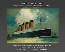 White Star Line Titanic Olympic 1911 Publicity Poster 16 x 20