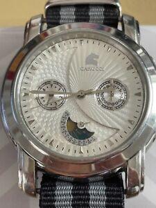 Top Carucci Automatik Edelstahl Herren Armbanduhr 5ATM Mondphase Uhr CA2126
