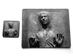 Han Solo in Carbonite Star Wars Scoundrel Rebel Cork Cup Plate Coaster Placemat
