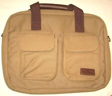 NEW Bella Russo Canvas Tan Laptop Case Soft Carry on Bag.