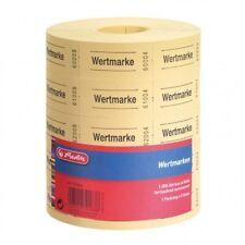 Herlitz 791830 neutrale Wertmarken 5x1000 Abrisse Farblich sortiert