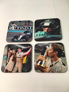 Nico Rosberg F1 World Champion Great COASTER Set