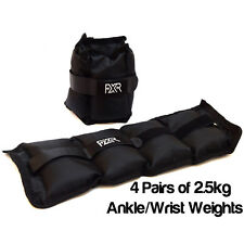 4 PAIRS OF 2.5KG FXR SPORTS WRIST ANKLE WEIGHTS RESISTANCE STRENGTH TRAINING GYM