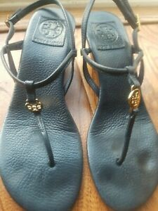 Tory burch black sandals size 7