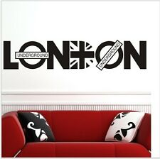 London Vinyl Art Union Jack Wall Sticker Home Decals Quote UK Removable Decal