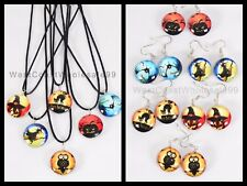 12 PC Halloween Double Sided Glass Fashion Necklace/Earrings Wholesale Jewelry