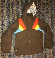 Burton Dryride Kids Snowboarding Jacket / Ski Coat sz Girls Medium Brown B5