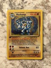 Pokemon first edition holo machamp