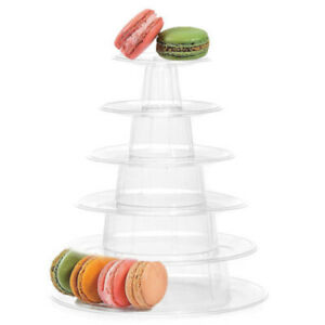 6 Tiers Birthday Cakes Plastic Round Display Wedding Rack Macaron Tower Stand