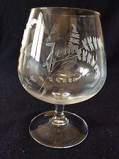 Jean gravé sur verre de dégustation cristal H 15,8 cm lorraine Lemberg