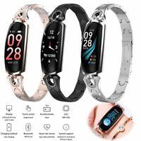 Damen Frauen Smartwatch Fitness Tracker Armbanduhr für iPhone Samsung J8 J7 J6