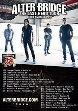 "Alter Bridge ""Last Hero Tour North America 2017"" Concert Poster -Hard Rock Music"
