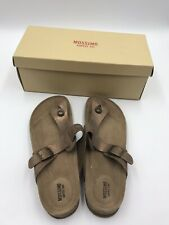 Mossimo Supply Co Knotted Flat Suede Beige Tan Brown Sandal 10 New with box